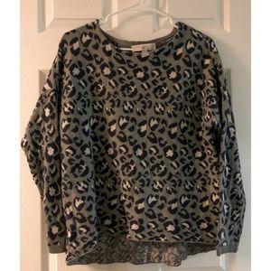 LOFT Ann Taylor Leopard Print Sweater